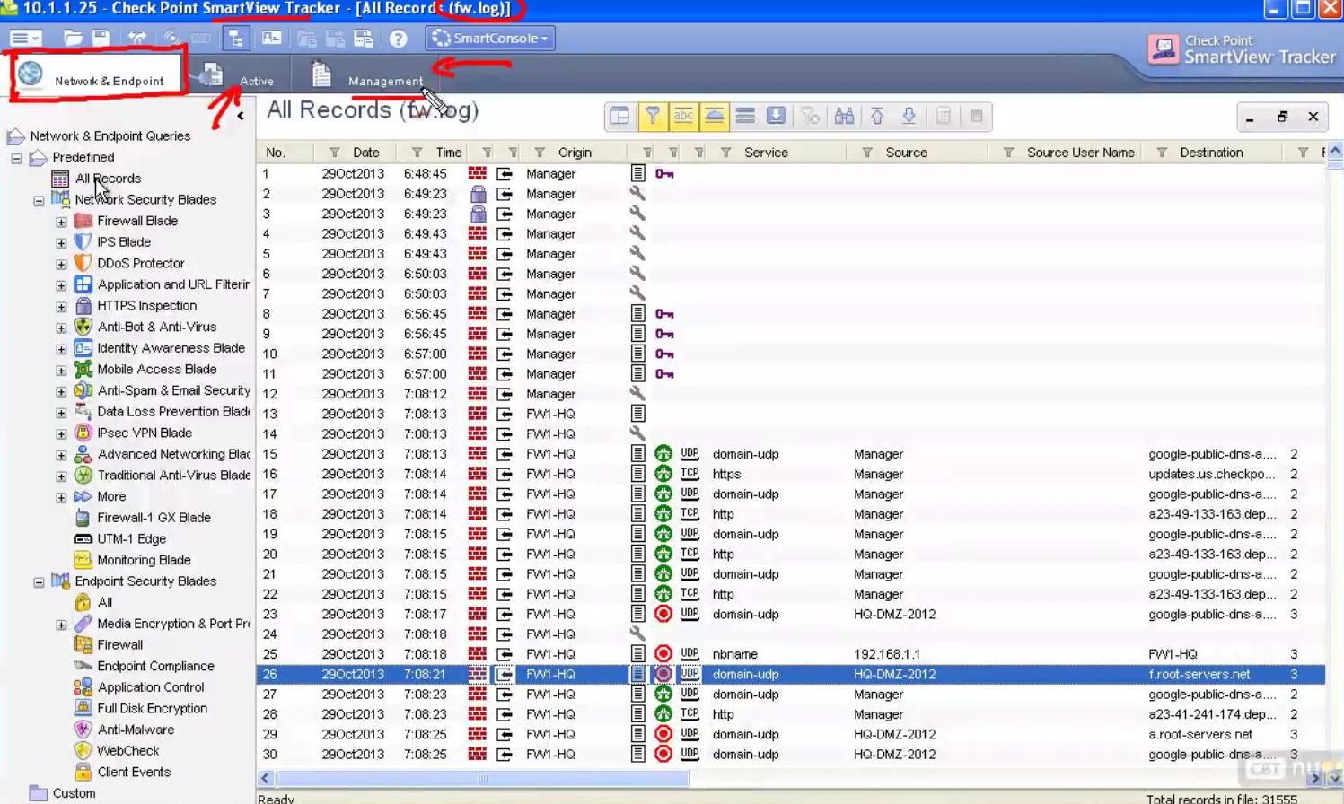 SmartView Tracker   Network Study